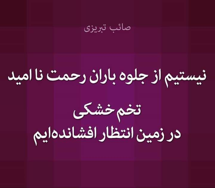 نیستم از جلوه باران رحمت نا امید صائب تبریزی