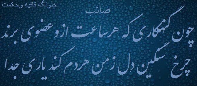چون گننهکاری که هر ساعت از و عضوی برند صائب تبریزی
