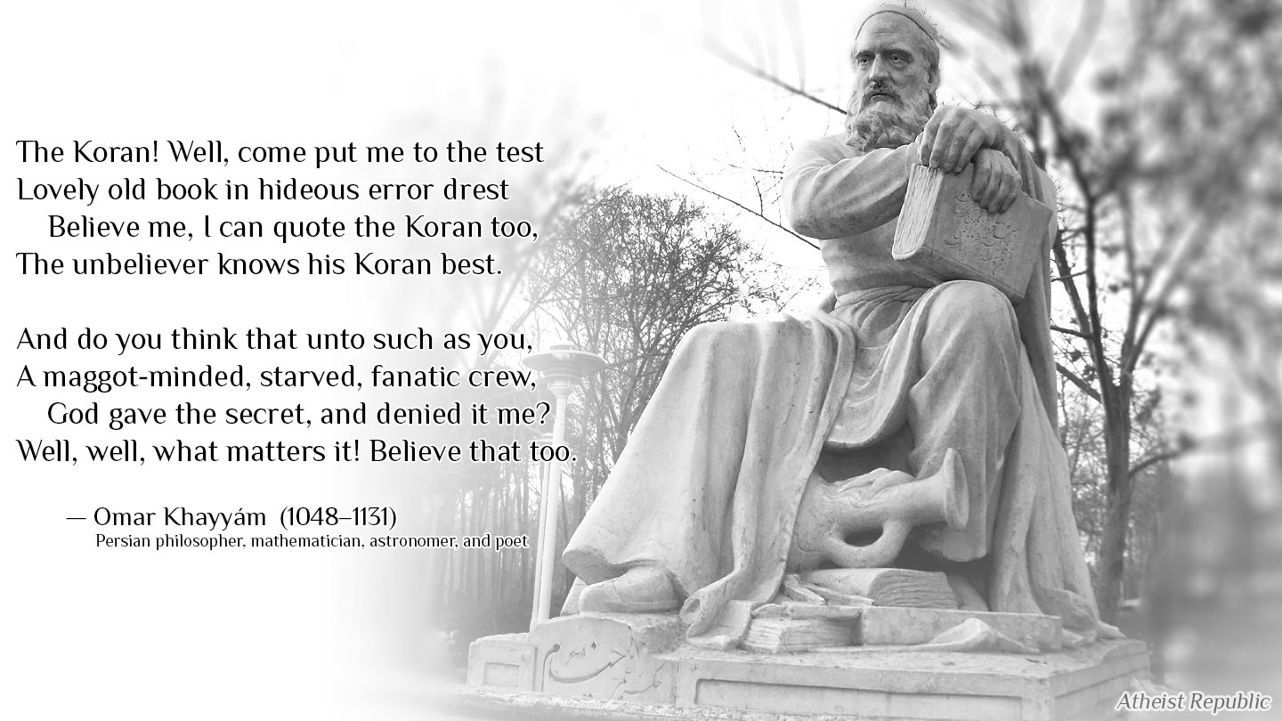 Come To Put Me On The Test By Omar Khayyam