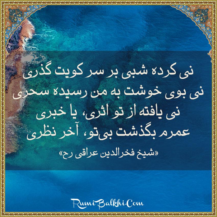نی کرده شبی بر سر کویت گذری