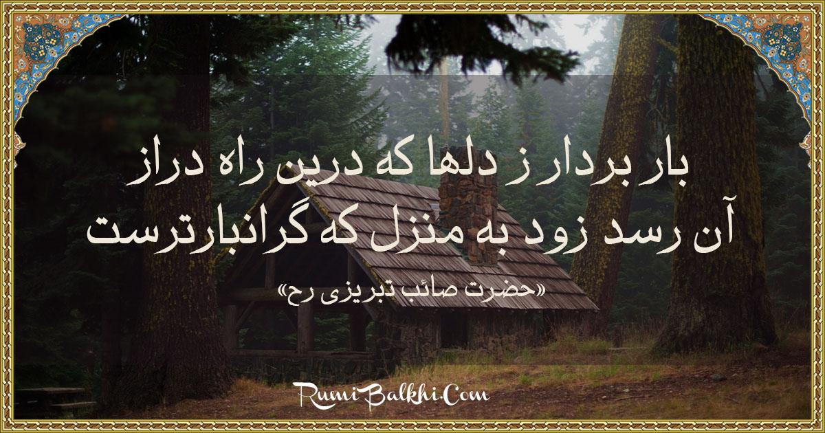 بار بردار ز دلها که درین راه دراز