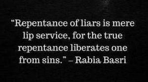 Repentance Of Liars By Rabia Al Basri