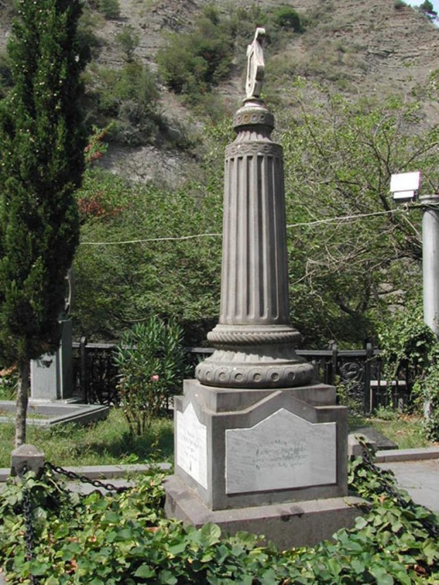 Nikoloz Baratashvili Memorial Stone at Pantheon in Tbilisi