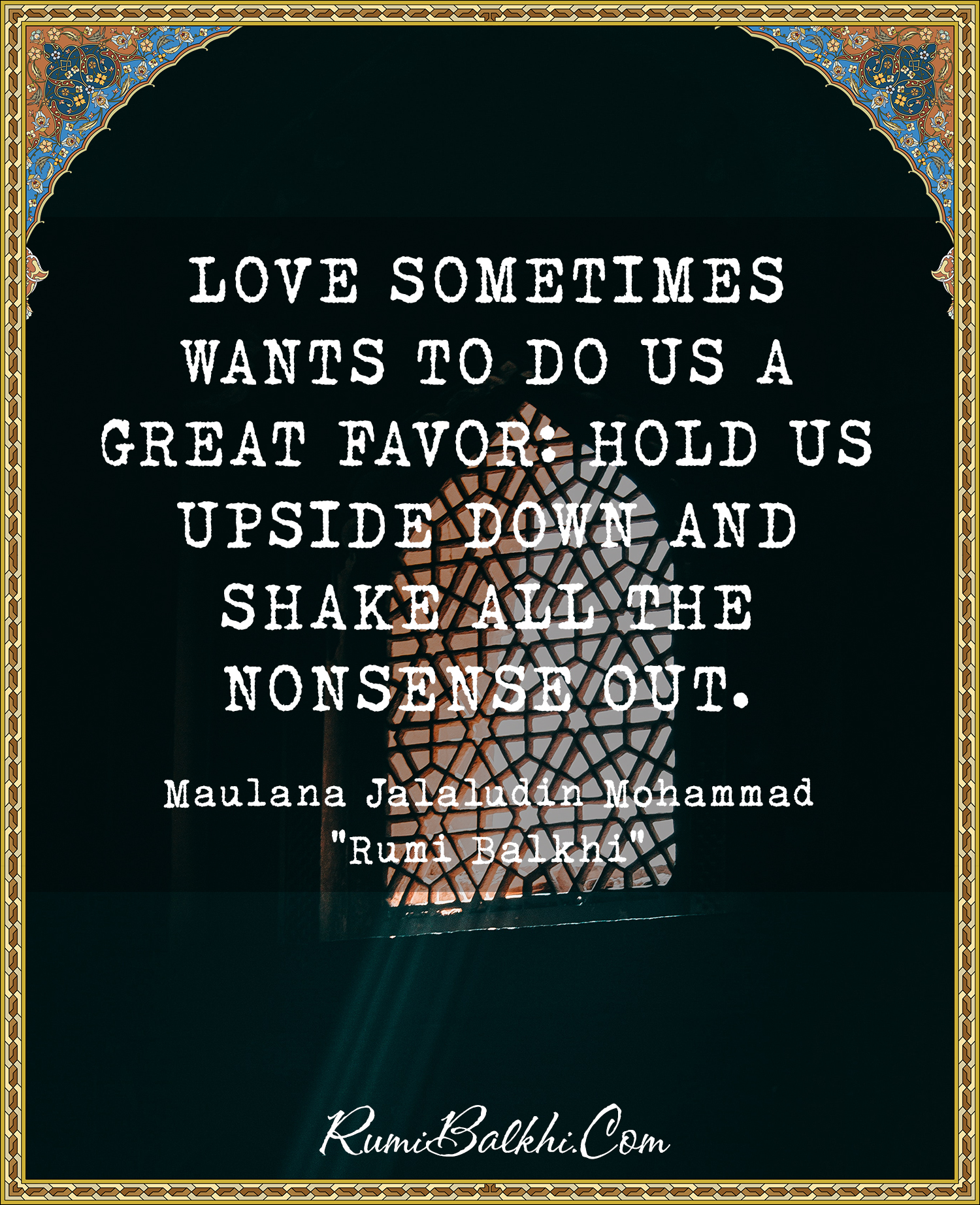 Love Sometimes Wants To Do Us A Great Favor