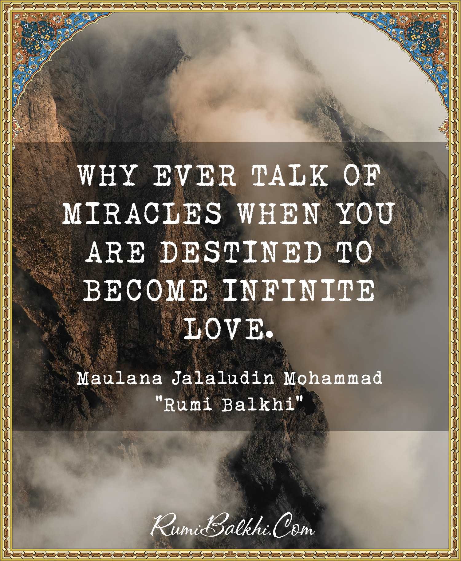 Why Ever Talk Of Miracles When You Are Destined To Become Infinite Love