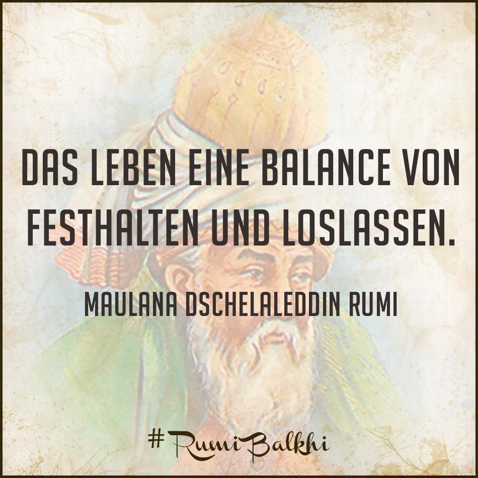 Das Leben eine Balance von Festhalten und Loslassen