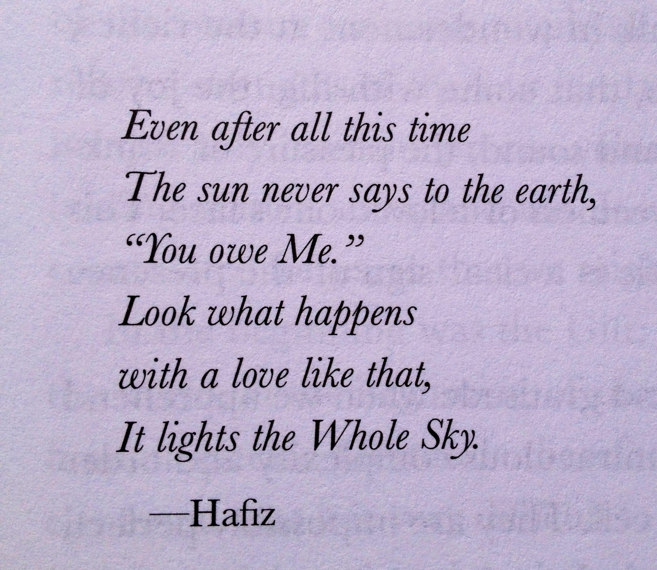 Even After All This Time By Hafiz