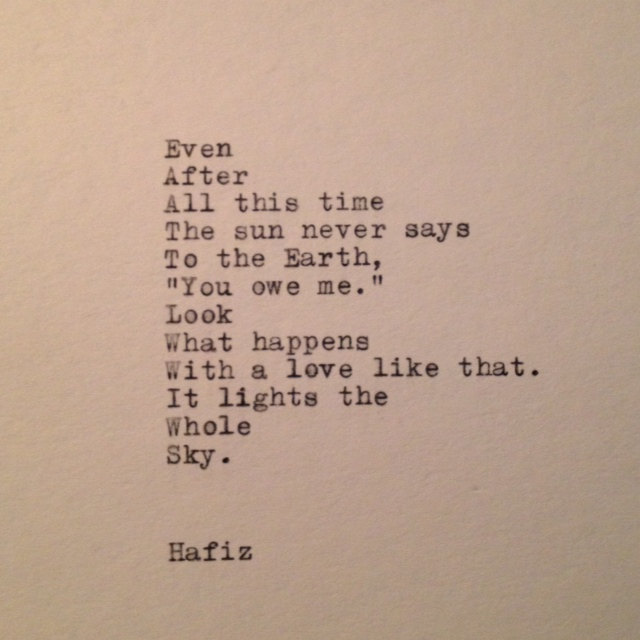 Look What Happens With Love By Hafiz