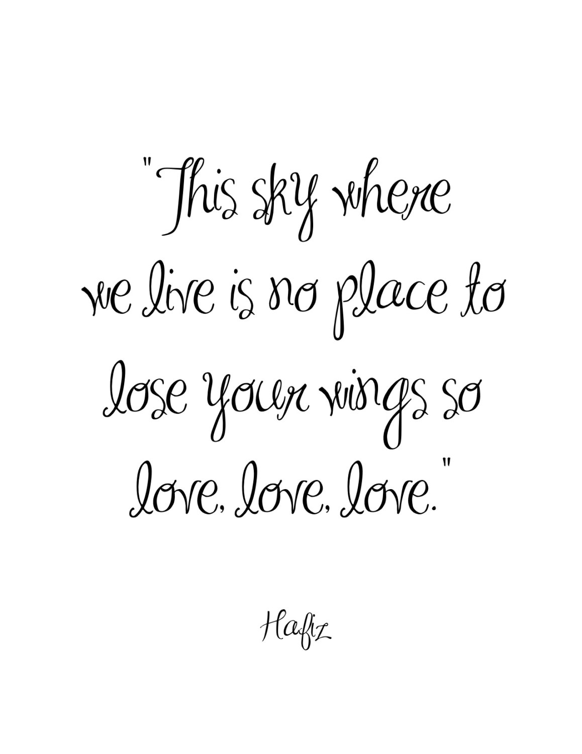 This Sky Where We Live By Hafiz